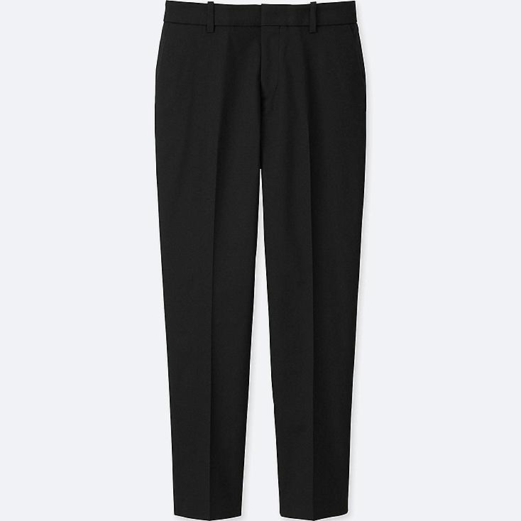 WOMEN DRY STRETCH CROPPED PANTS, BLACK, large
