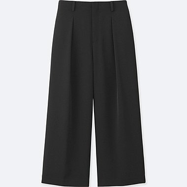WOMEN EASY CARE Drape Culottes Trousers