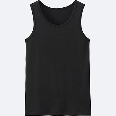 KIDS AIRism MESH TANK TOP, BLACK, medium