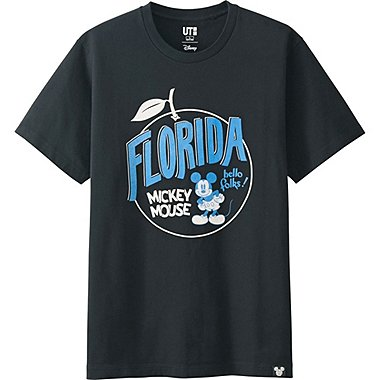 MEN DISNEY COLLECTION CITY LOGO GRAPHIC T-SHIRT, BLACK, medium