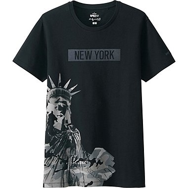MEN SPRZ NY A.WARHOL SHORT SLEEVE GRAPHIC T-SHIRT, BLACK, medium