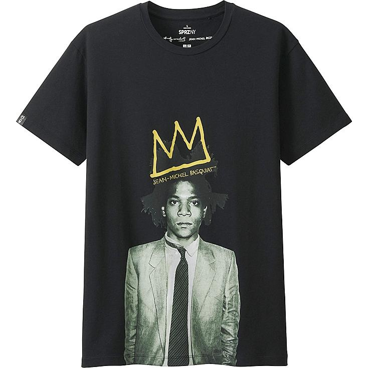 MEN SPRZ NY BASQUIAT SHORT SLEEVE GRAPHIC T-SHIRT, BLACK, large