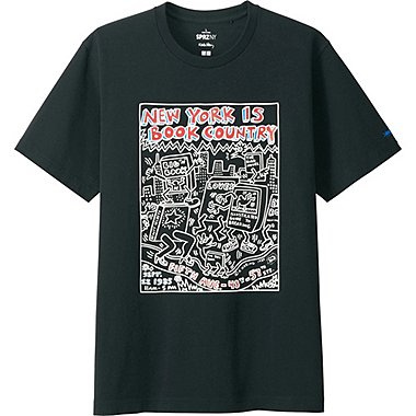 MEN SPRZ NY K.HARING SHORT SLEEVE GRAPHIC T-SHIRT, BLACK, medium