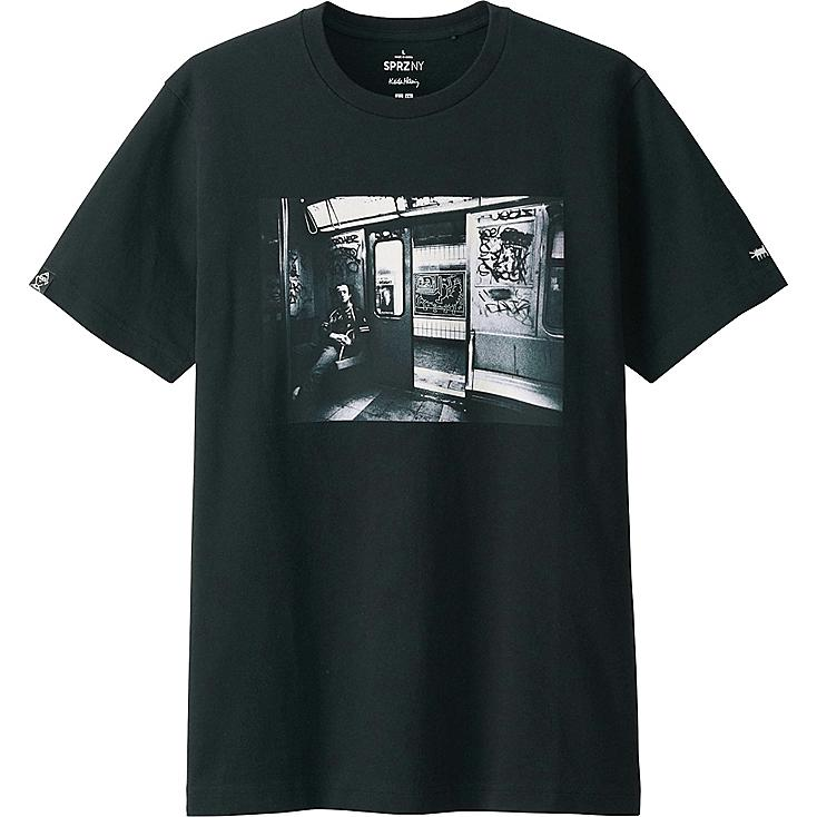 MEN SPRZ NY SHORT SLEEVE GRAPHIC T-SHIRT (KEITH HARING), BLACK, large