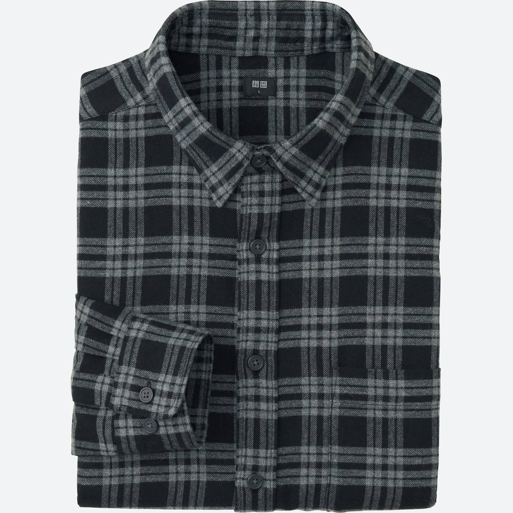 MEN FLANNEL CHECKED LONG SLEEVE SHIRT | UNIQLO US