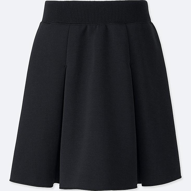GIRLS DRY SWEAT TUCK SKIRT, BLACK, large
