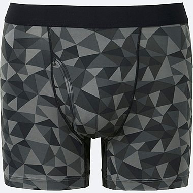 MEN AIRism BOXER BRIEFS, BLACK, medium