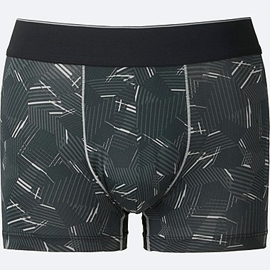 MEN AIRism LOW RISE BOXER BRIEFS, BLACK, medium
