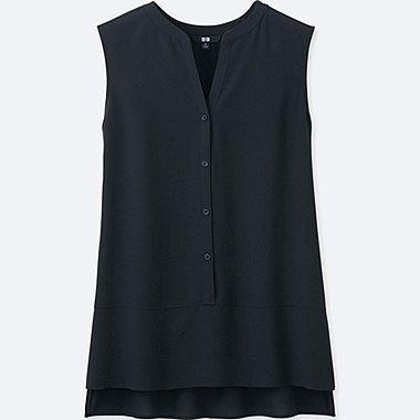 DAMEN Bluse Ärmellos Aus Silk Touch