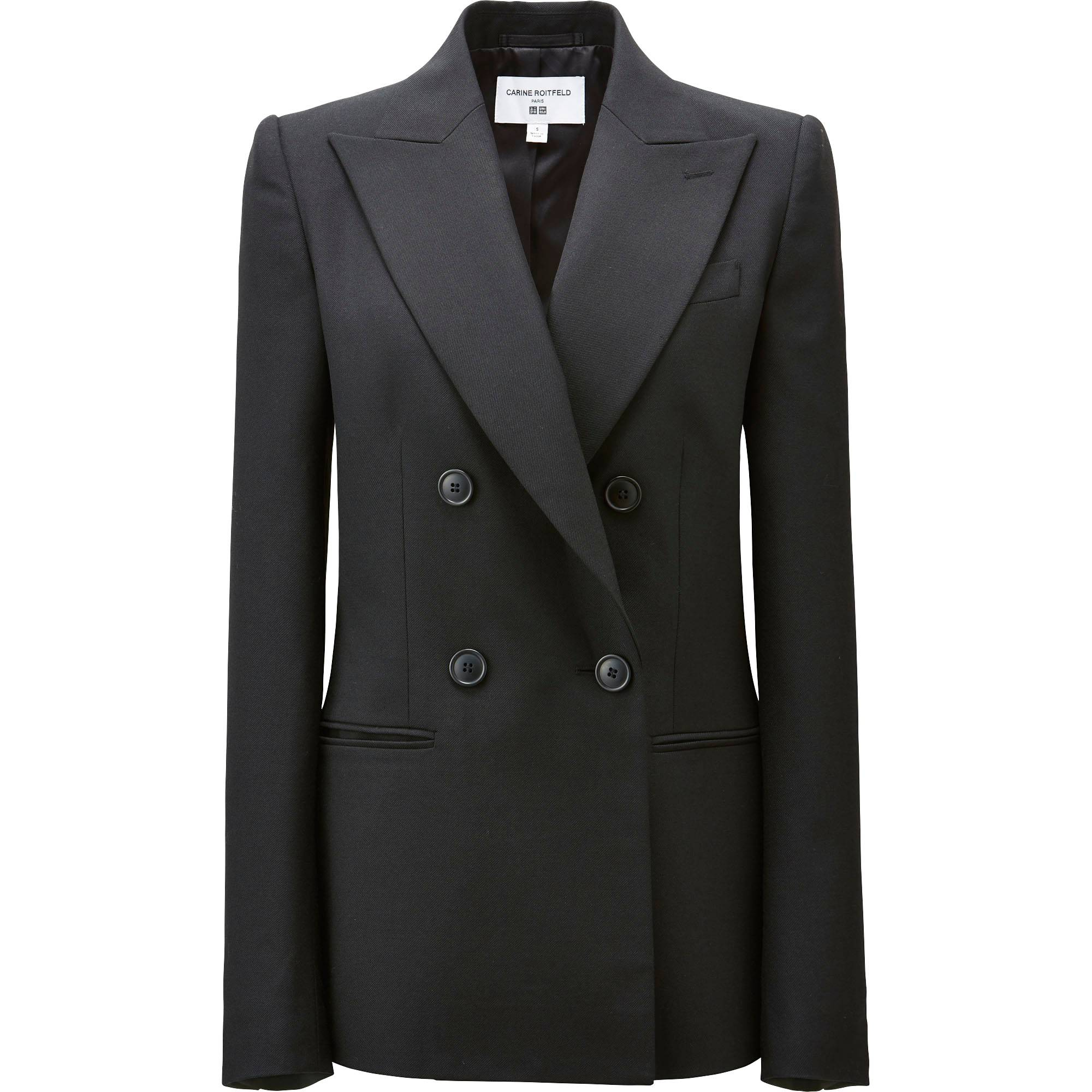 WOMEN CARINE DOUBLE BREASTED WOOL BLENDED SERGE JACKET | UNIQLO US