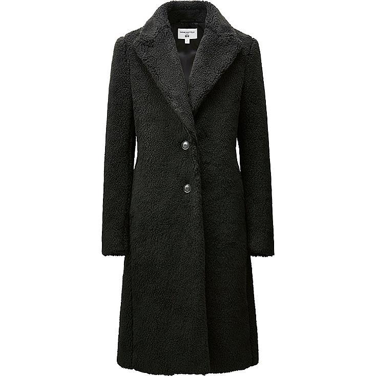 WOMEN CARINE COAT, BLACK, large