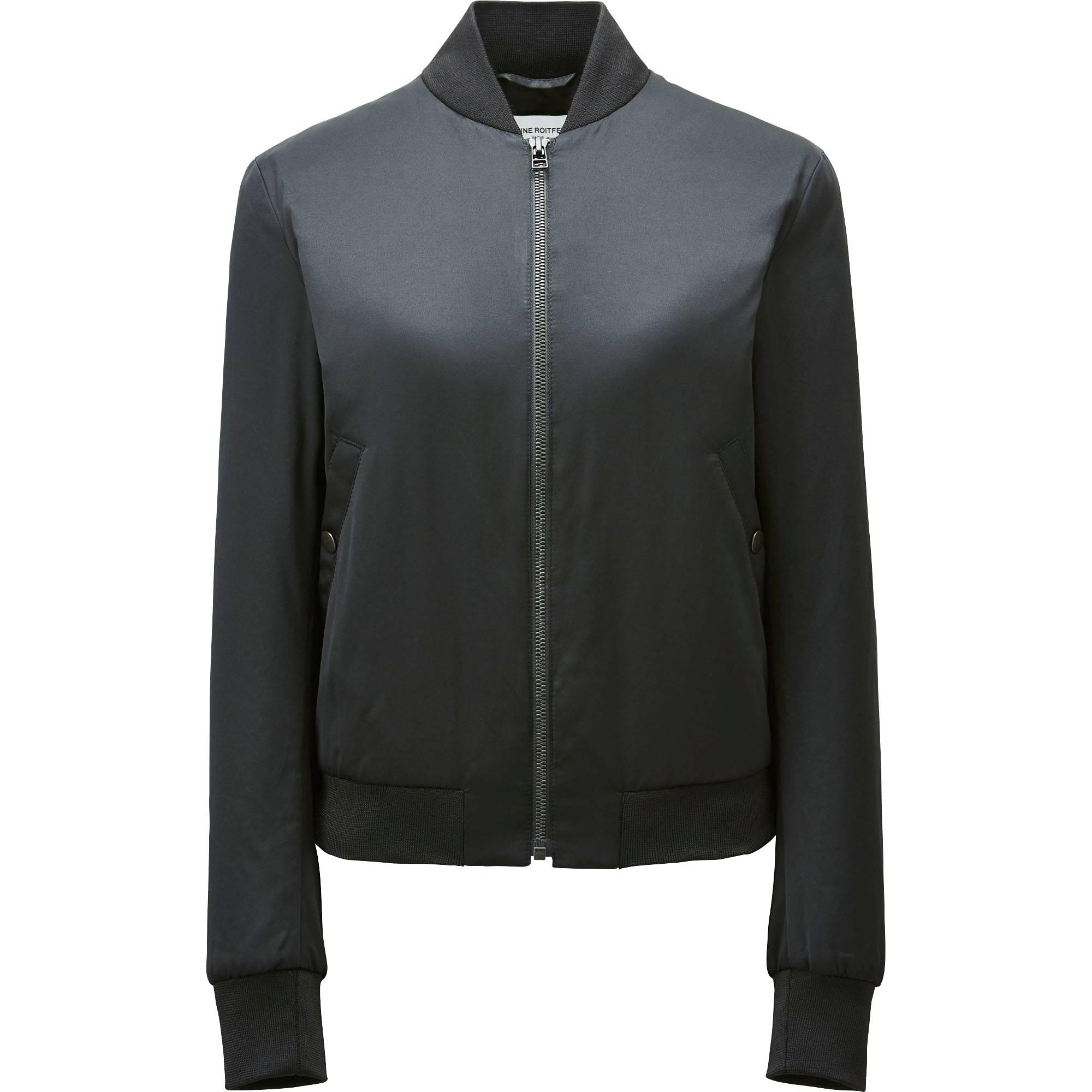 Leather jacket uniqlo - Women Carine Blouson Black Small