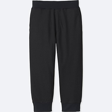KIDS DRY EX CROPPED PANTS, BLACK, medium