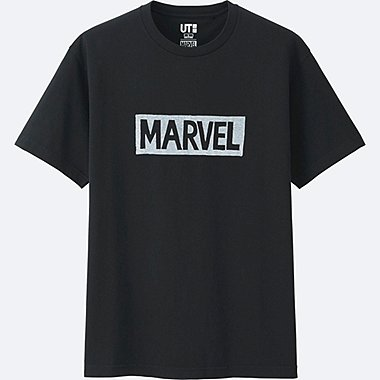 MEN MARVEL COLLECTION SHORT SLEEVE GRAPHIC T-SHIRT, BLACK, medium