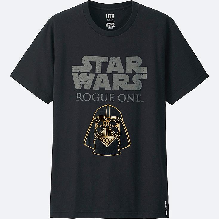 MEN STAR WARS SHORT SLEEVE GRAPHIC T-SHIRT, BLACK, large