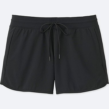 WOMEN DRY-EX ULTRA STRETCH SHORTS, BLACK, medium