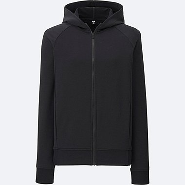 WOMEN AIRism Stretch Long Sleeve Full Zip Hoodie