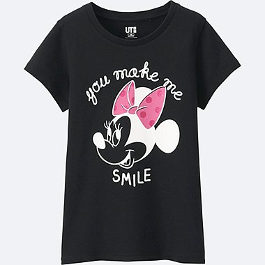 GIRLS DISNEY COLLECTION SHORT SLEEVE GRAPHIC TEES, BLACK, medium
