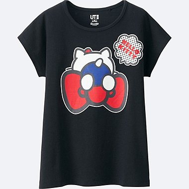 GIRLS SANRIO SHORT SLEEVE GRAPHIC T-SHIRT, BLACK, medium