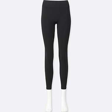 WOMEN AIRism SEAMLESS LEGGINGS, BLACK, medium