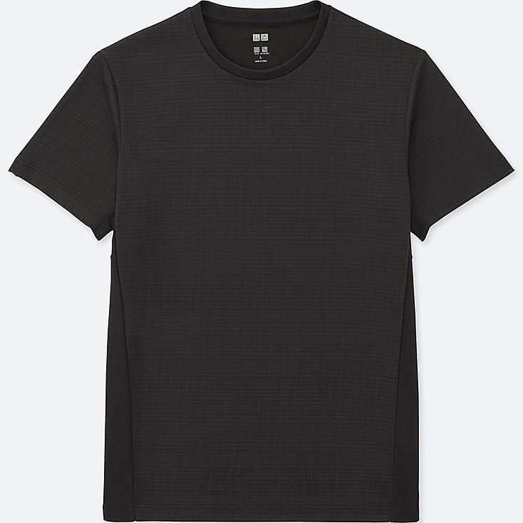 MEN DRY-EX SHORT SLEEVE CREW NECK T-SHIRT, BLACK, large