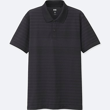 MEN DRY EX SHORT SLEEVE POLO SHIRT, BLACK, medium