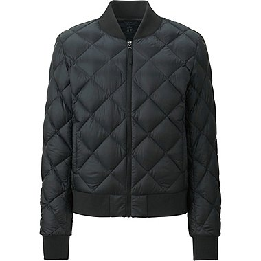 WOMEN Ultra Light Down Quilted Bomber