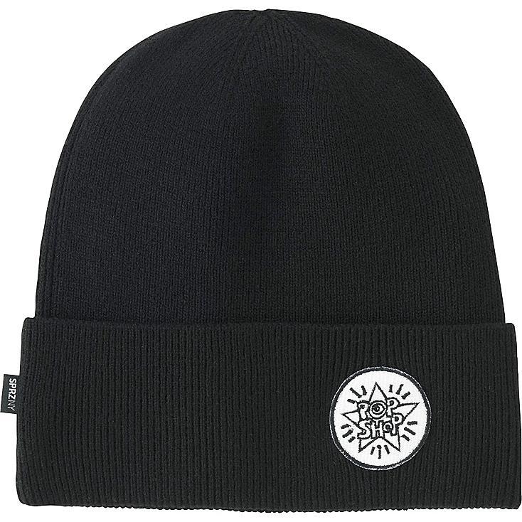 MEN SPRZ NY KNITTED CAP, BLACK, large