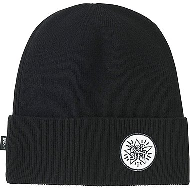 MEN SPRZ NY KNITTED CAP, BLACK, medium