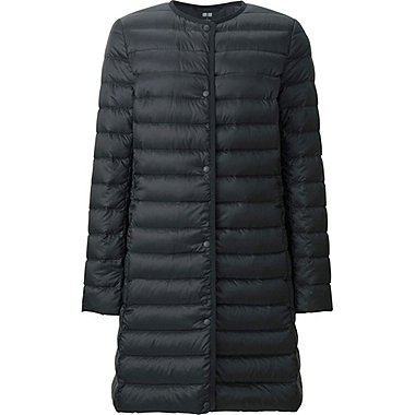 WOMEN ULTRA LIGHT DOWN COMPACT COAT, BLACK, medium