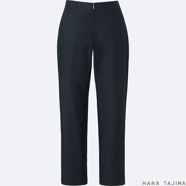 WOMEN TENCEL ANKLE LENGTH PANTS, BLACK, large