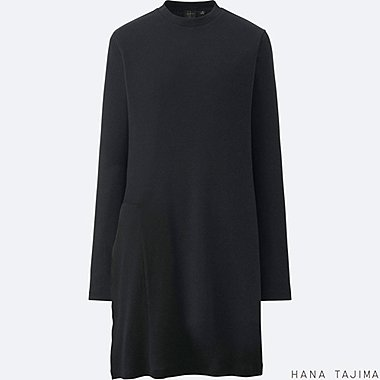 WOMEN Hana Tajima Ribbed Crew Neck Long Sleeve Tunic