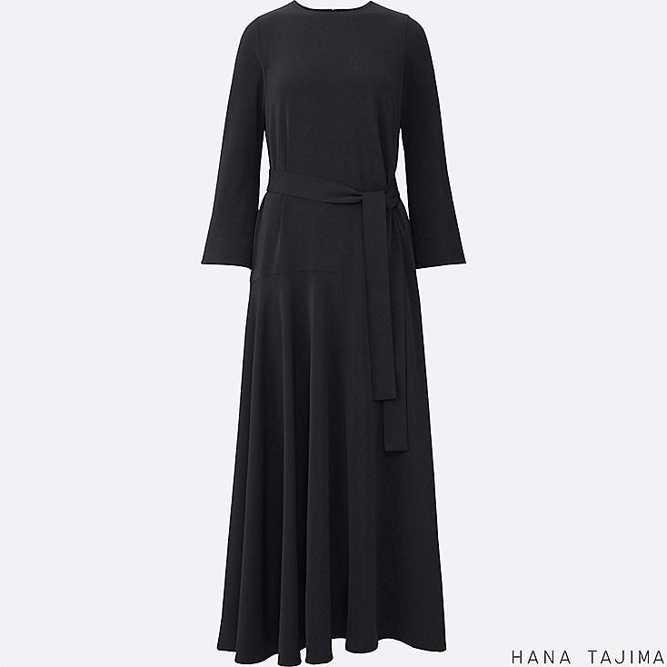 WOMEN HANA TAJIMA FLARE LONG SLEEVE LONG DRESS
