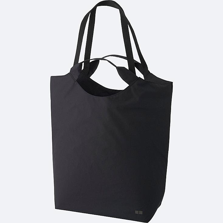 PACKABLE BAG (TOTEBAG), BLACK, large