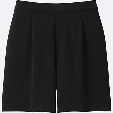 WOMEN High Rise Drape Flare Shorts