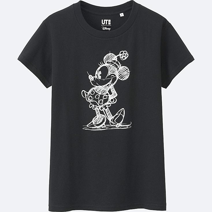 WOMEN DISNEY COLLECTION SHORT SLEEVE GRAPHIC T-SHIRT, BLACK, large