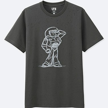 REFLECTIVE PRINT (PIXAR) GRAPHIC T-SHIRT, BLACK, medium