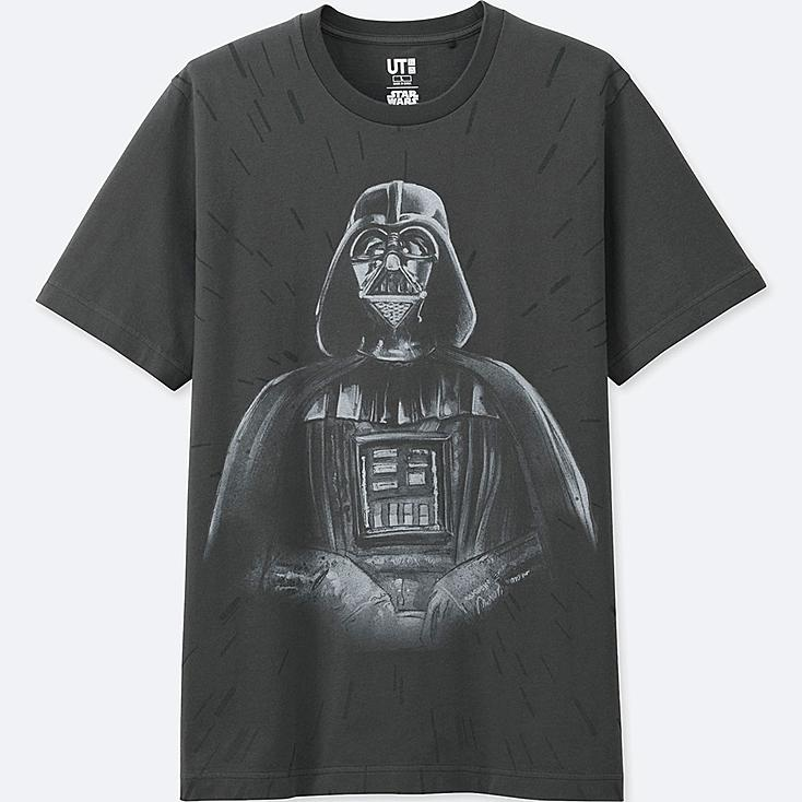 REFLECTIVE PRINT (STAR WARS) GRAPHIC T-SHIRT, BLACK, large
