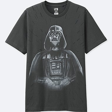 MEN REFLECTIVE PRINT (STAR WARS) GRAPHIC T-SHIRT, BLACK, medium