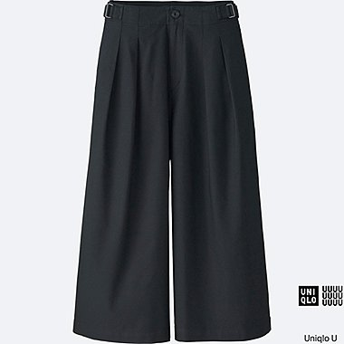 WOMEN Uniqlo U Oxford Wide Leg Trousers