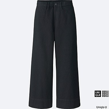 WOMEN Uniqlo U Denim Wide Leg Trousers