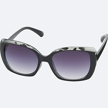 SQUARE SUNGLASSES, BLACK, medium