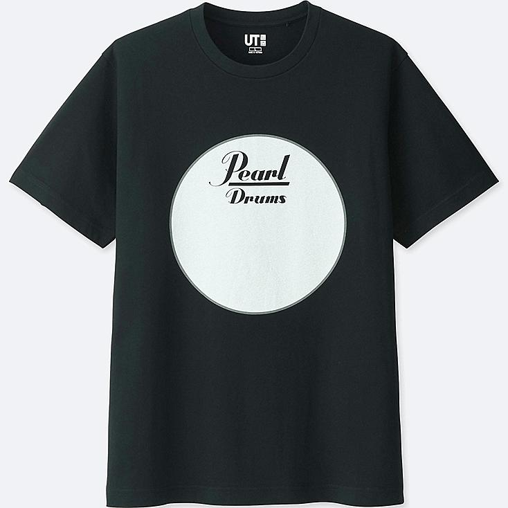 MEN THE BRANDS SHORT-SLEEVE GRAPHIC T-SHIRT (PEARL DRUM), BLACK, large
