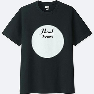 THE BRANDS SHORT-SLEEVE GRAPHIC T-SHIRT (PEARL DRUM), BLACK, medium