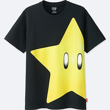 MEN UTGP (NINTENDO) SHORT-SLEEVE GRAPHIC T-SHIRT, BLACK, medium