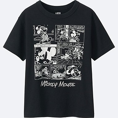 BOYS DISNEY COLLECTION SHORT SLEEVE GRAPHIC T-Shirt, BLACK, medium