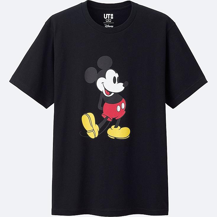 MICKEY STANDS SHORT SLEEVE GRAPHIC T-SHIRT, BLACK, large