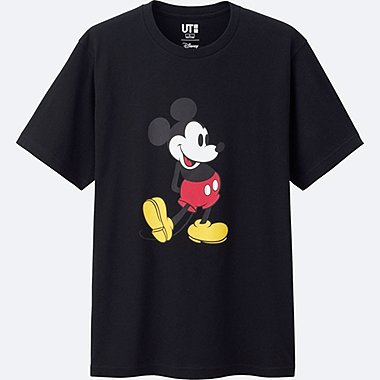 MICKEY STANDS SHORT SLEEVE GRAPHIC T-SHIRT, BLACK, medium