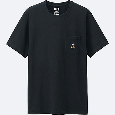 MICKEY STANDS SHORT SLEEVE POCKET T-SHIRT, BLACK, medium