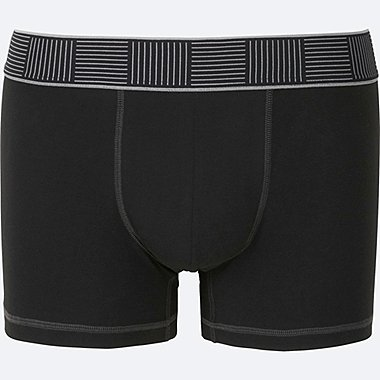 MEN SUPIMA COTTON BOXER BRIEFS (LOW RISE), BLACK, medium